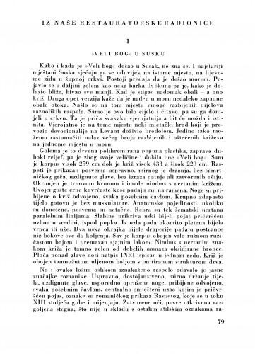 Iz naše Restauratorske radionice : Bulletin Zavoda za likovne umjetnosti Jugoslavenske akademije znanosti i umjetnosti
