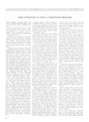 Neke evokacije na temu umjetnosti Brazilije : Bulletin Instituta za likovne umjetnosti Jugoslavenske akademije znanosti i umjetnosti