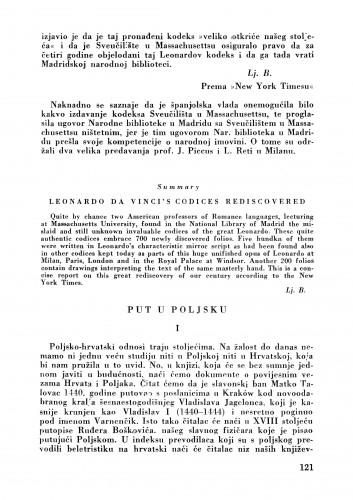 Put u Poljsku : Bulletin Zavoda za likovne umjetnosti Jugoslavenske akademije znanosti i umjetnosti