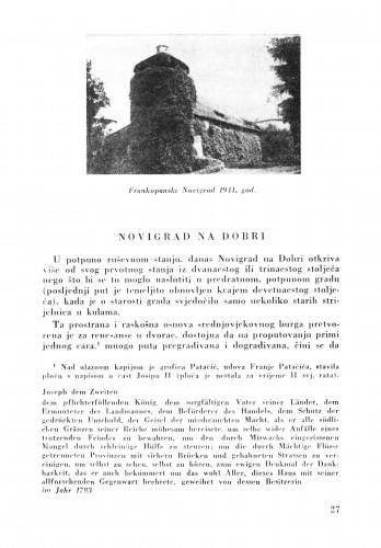Novigrad na Dobri : Bulletin Zavoda za likovne umjetnosti Jugoslavenske akademije znanosti i umjetnosti