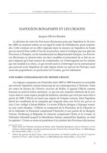 Napoléon Bonaparte et les Croates