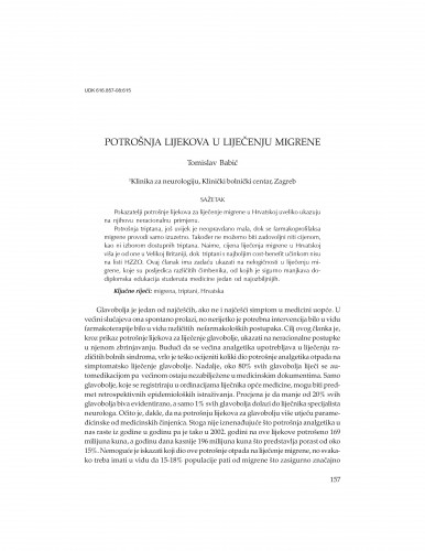 Potrošnja lijekova u liječenju migrene