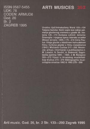 God. 26(1995), br. 2 : Arti musices