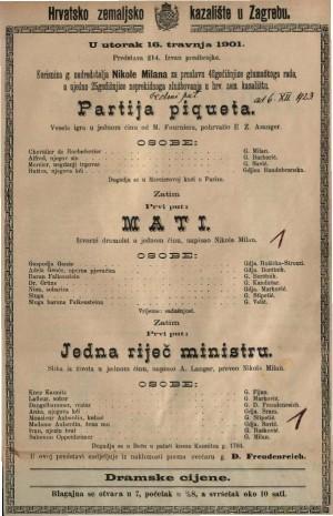 Partija piqueta vesela igra u jednom činu / od M. Fourniera