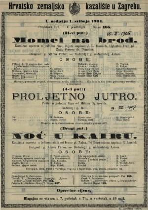 Noć u Kairu komična opereta u jednom činu / od Ivana pl. Zajca