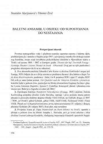 Baletni ansambl u Osijeku od supostojanja do nestajanja : Krležini dani u Osijeku