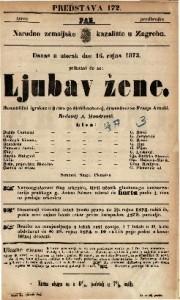 Ljubav žene Romantični igrokaz u 3 čina / po Mühlbachovoj, dramatisovao Franjo Arnold