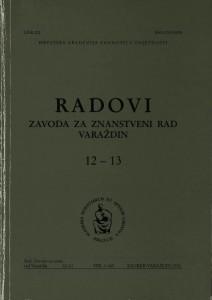 Knj. 12/13 (2001) : Radovi Zavoda za znanstveni rad Varaždin