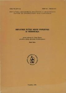 Hrvatske pučke misne popijevke iz Međimurja : Posebna izdanja / Hrvatska akademija znanosti i umjetnosti, Zavod za znanstveni rad u Varaždinu