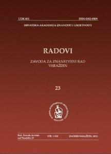 Knj. 23 (2012) : Radovi Zavoda za znanstveni rad Varaždin