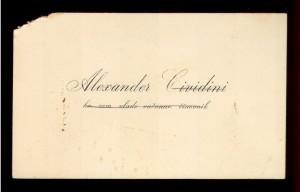 Alexander Cividini kr. zem. vlade računar. činovnik