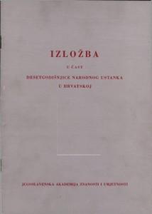 Izložba u čast desetogodišnjice narodnog ustanka u Hrvatskoj