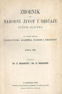 Knj. 8. (1903) : Zbornik za narodni život i običaje