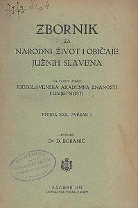 Knj. 30., sv. 1 (1935) : Zbornik za narodni život i običaje
