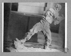 Skica borca za spomenik Jozefu Pilsudskom
