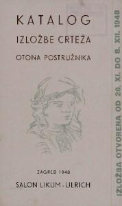 Katalog izložbe crteža Otona Postružnika
