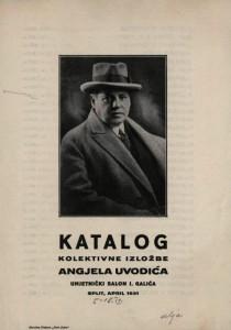 Katalog kolektivne izložbe Angjela Uvodića