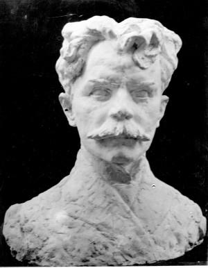 Bakić, Vojin(1915-1992): Poprsje Silvija Strahimira Kranjčevića - model za spomenik ]
