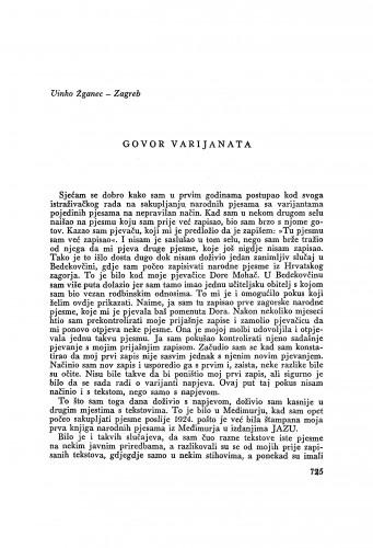 Govor varijanata / V. Žganec