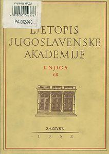Za godinu 1961. Knj. 68 : Ljetopis