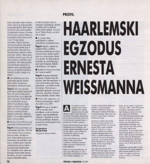 Haarlemski egzodus Ernesta Weissmanna : Čovjek i prostor