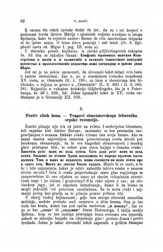 Protiv zlieh žena : nekoliko pričica iz bugarskoga zbornika : [Opisi i izvodi iz nekoliko južnoslovinskih rukopisa] / Vatroslav Jagić