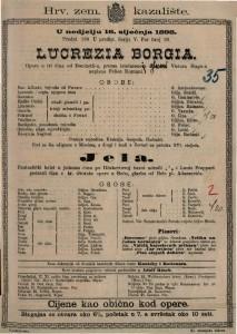 Lucrezia Borgia Opera u tri čina / od Donizetti-a