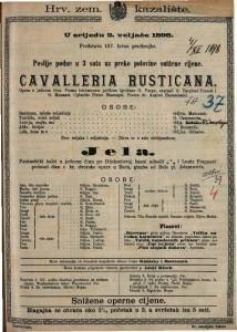Cavalleria rusticana Opera u jednom činu / Uglazbio Pietro Mascagni