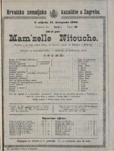 Mam'zelle Nitouche opereta u tri čina (četiri slike) / od Hervea