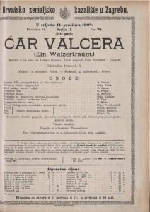 Čar valcera opereta u tri čina  =  Ein Waltzertraum