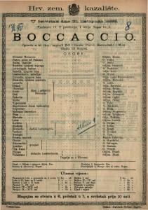 Boccaccio Opereta u tri čina / Glazba od Suppéa