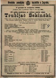 Trubljač Sekinški velika opera u tri čina sa predigrom po istoimenoj originalnoj pjesmi Viktora Scheffela / Uglazbio Viktor E. Nessler