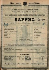 Sappho Tragedija u pet činova / od Grillparzera