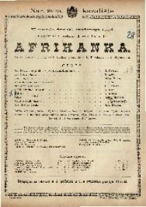Afrikanka Velika opera u 5 čina / Glazba od G. Mayerbeera