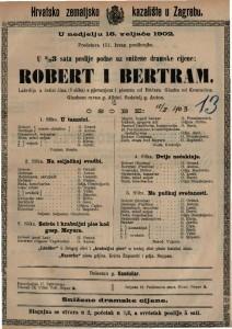 Robert i Bertram lakrdija u četiri čina (5 slika) s pjevanjem i plesom / od Rädera
