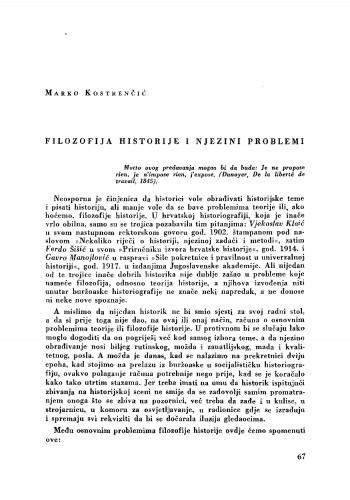 Filozofija historije i njezini problemi