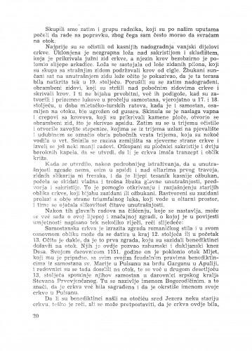 Popravak benediktinske crkve na otoku Mljetu / C. Fisković