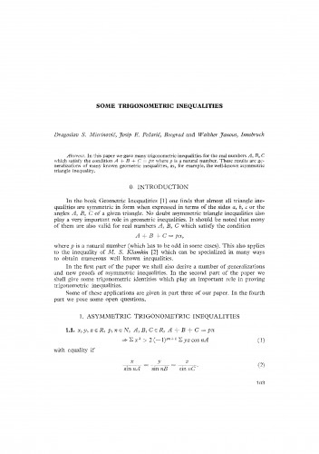 Some trigonometric inequalities