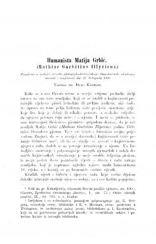 Humanista Matija Grbić