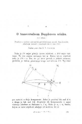 O transversalnom Dopplerovu učinku