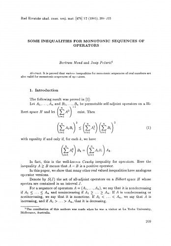 Some inequalities for monotonic sequences of operators