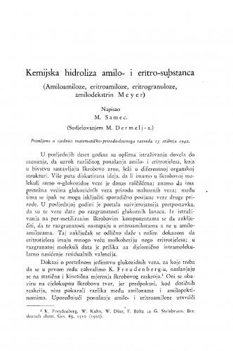 Kemijska hidroliza amilo- i eritro-substanca (Amiloamiloze, eritroamiloze, eritrogranuloze, amilodekstrin Meyer)
