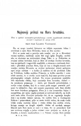 Najnoviji prilozi na floru hrvatsku : RAD