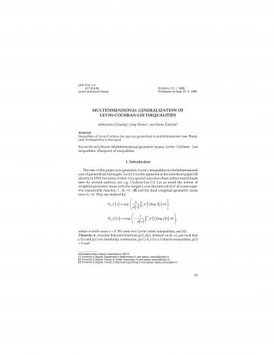 Multidimensional generalization of Levin-Cochran-Lee inequalities