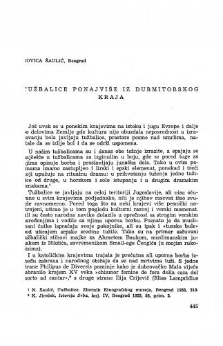 Tužbalice ponajviše iz durmitorskog kraja / N. Šaulić