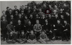 Antun Gustav Matoš sa suučenicima IV a razreda 1887. godine