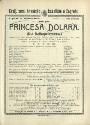 Princesa dolara Opereta u tri čina / Prema veseloj igri Gatti-Trotha Die Dollarprinzessin  =  Die Dollarprinzessin