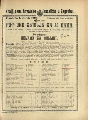 Put oko zemlje za 80 dana Gluma u pet činova (14 slika) i predigrom / prema romanu J. Vernea Le tour du monde en 80 jours
