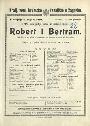 Robert i Bertram : Lakrdija s pjevanjem i plesom u četiri čina (5 slika)