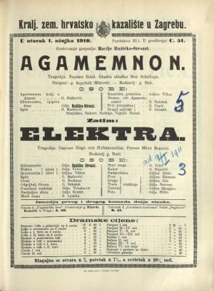 Agamemnon ; Elektra Tragedija